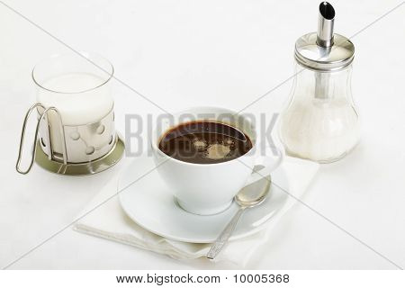 Espresso With Milk And Sugar