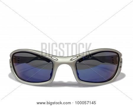 Safety glasses with blue lenses