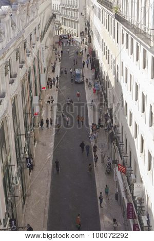 View From The Top Of  Rua Do Carmo