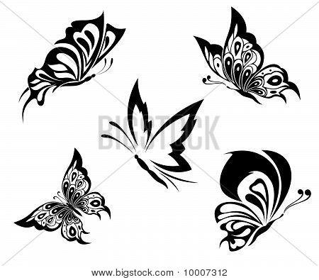 Black White Butterflies Of A Tattoo