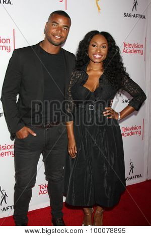 LOS ANGELES - AUG 27:  Redaric Williams, Angell Conwell at the Dynamic & Diverse Emmy Celebration at the Montage Hotel on August 27, 2015 in Beverly Hills, CA