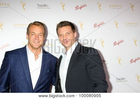 LOS ANGELES - AUG 26:  Doug Davidson, Steve Burton at the Television Academy's Daytime Programming Peer Group Reception at the Montage Hotel on August 26, 2015 in Beverly Hills, CA