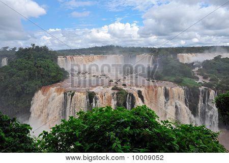 Iguazu waterfalls in Brazil