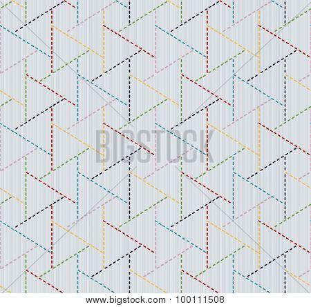 Abstract japanese needlework. Sashiko. Seamless texture.