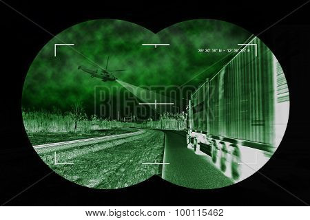 Truck Chase - View From Nightvision