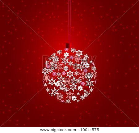 Elegant Red Christmas Background