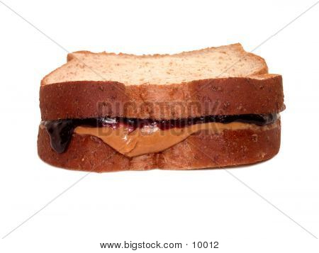 Peanutbutter and Jelly on wheat. poster