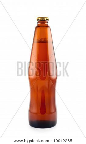 Beer Bottle  Isolated White Background.