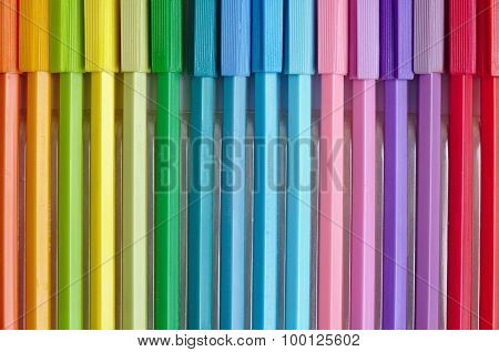 Coloring plastic markers