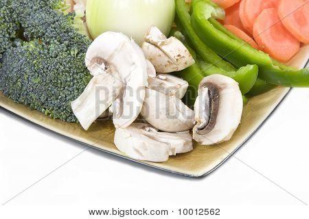 Sliced Vegetables
