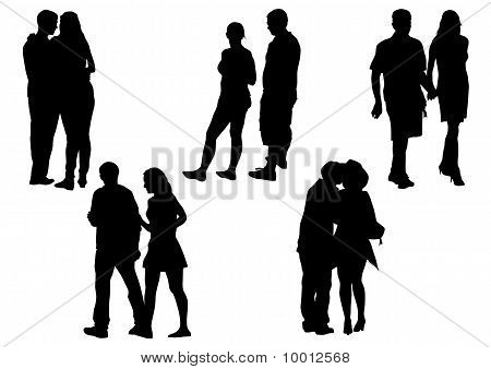 Couples man and women