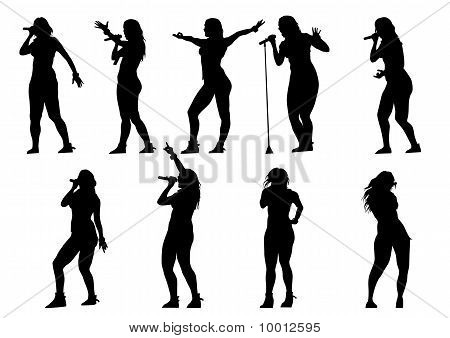 Singer woman rock