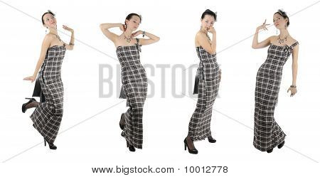 Young Woman In Long Dress. Collection #2 | Isolated