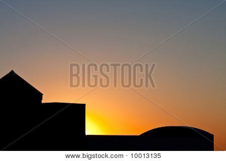 Sunrise And Silhouette