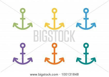 Anchor vector logo icon. Sea, sailor symbols