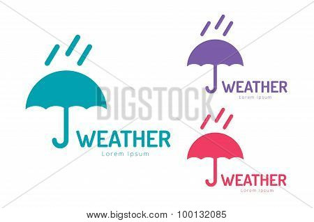 Vector umbrella colored logo