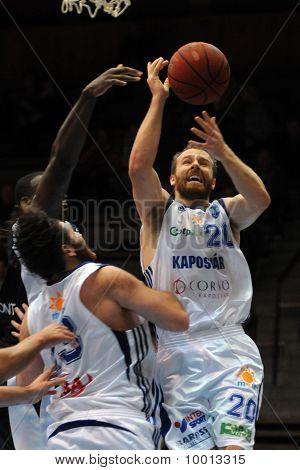 Kaposvar - Szeged basketball game
