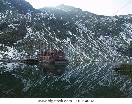 Balea Lake Cabin In Carpathians