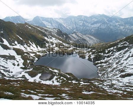 Capra Lake In Fagaras Mountains