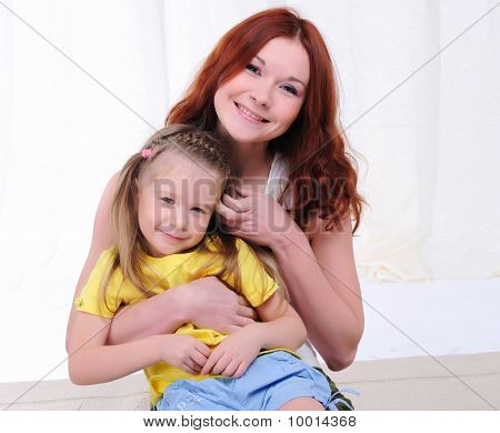 Young Mother Having Fun