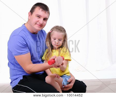 Young Father And Daughter
