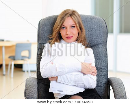 Young Girl In His Office
