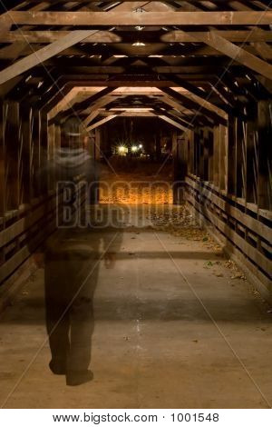 Ghost In Covered Bridge.