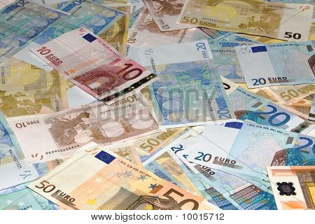 Background made of EURO money, a lot of Euro