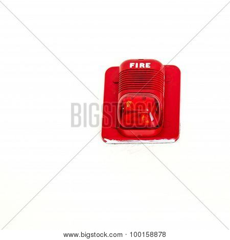 A Fire Alarm With Built In Strobe Light ,alert In Case Of Fire.