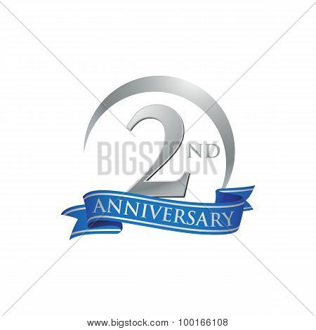 2nd anniversary logo template.  Creative design. Business success poster