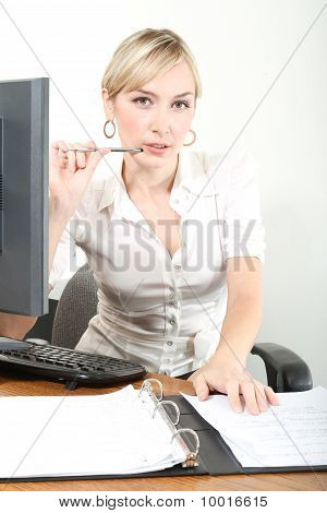Business Woman In A Office
