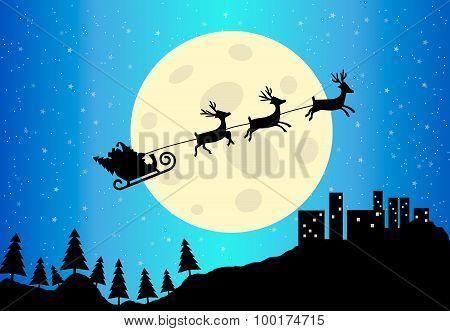 Santa's Sleigh Vector Illustration