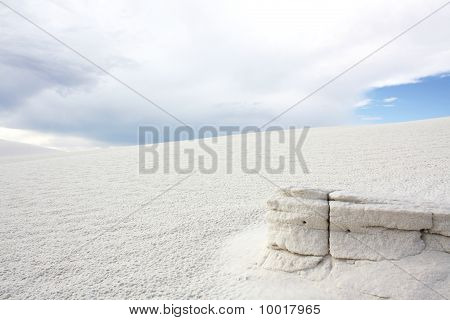 Weathered formation at White Sands
