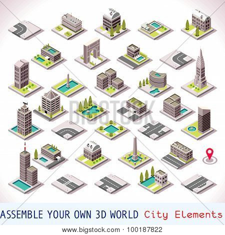 Game Set 01 Building Isometric