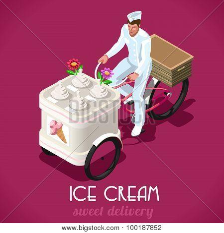 Icecream Man People Isometric