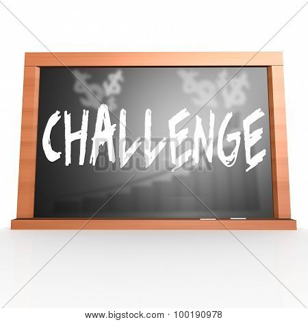 Black Board With Challenge Word