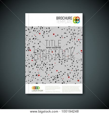Modern Vector abstract microscopy brochure, report or flyer design template with cells