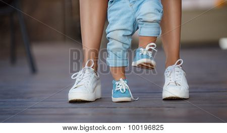 The first steps of the kid