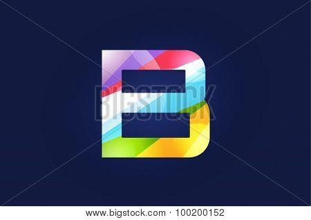 B letter vector logo icon symbol