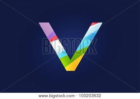 V letter vector. V logo icon template. V symbol silhouette. V isolated icon, V line style letter, V logotype, V logotype, V modern symbol, V company name brand.