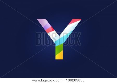 Y letter vector. Y logo icon template. Y symbol silhouette. Y isolated icon, Y line style letter, Y logotype, Y logotype, Y modern symbol, Y company name brand.