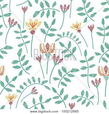 Fancywork natural vector seamless pattern