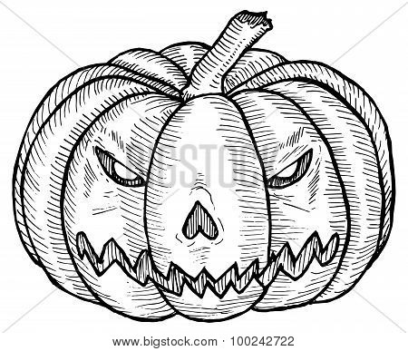 Illustration of a Halloween pumpkin.