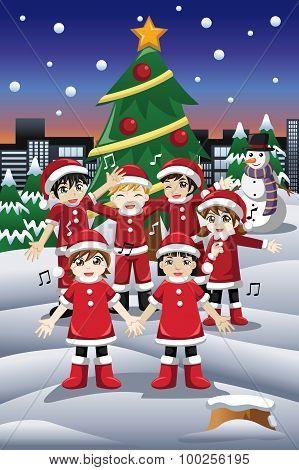 Kids Singing Christmas Carols