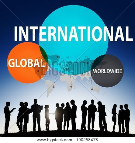 International Global Community Worldwide Trading Concept poster