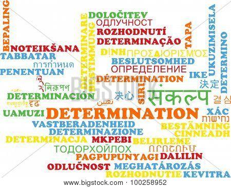 Background concept wordcloud multilanguage international many language illustration of determination