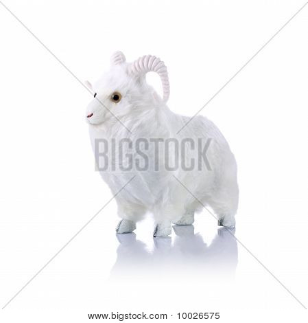 Model ram isolated on white background with reflection poster