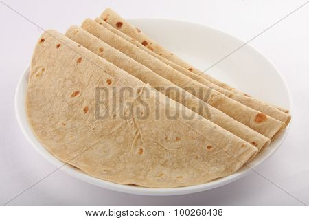 Tasty  Homemade organic wheat flour Chapati.