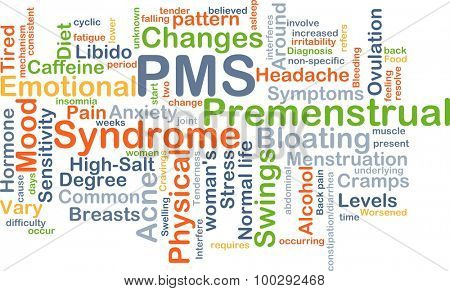 Background concept wordcloud illustration of PMS