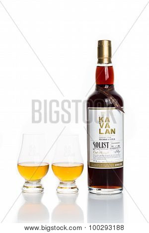 KUALA LUMPUR, MALAYSIA - February 24, 2015: Taiwan's leading whiskey brand, Kavalan is now available